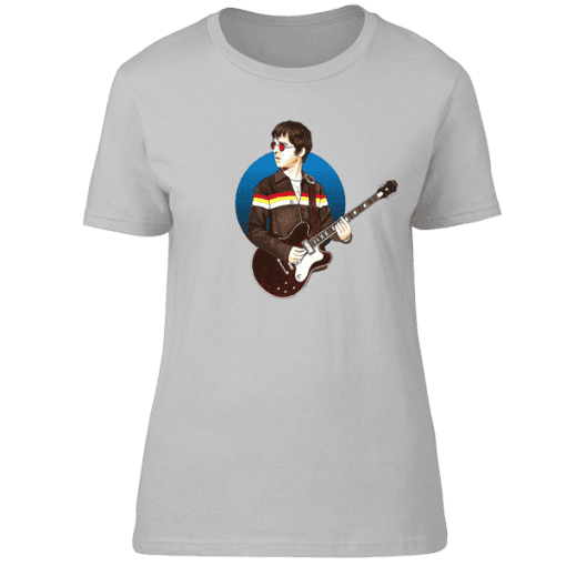 Noel Gallagher Don't Look Back In Anger T-Shirt featuring an original drawing by Mark Reynolds. Available in a wide range of colours and sizes.