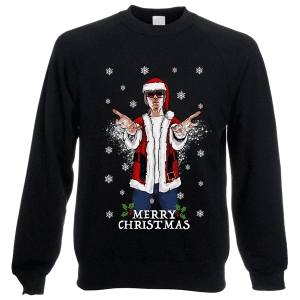 This Ian BrownChristmas jumper (sweatshirt) is available in a wide range of colours and sizes. It is exclusive to Mr Art and can only be purchased from this website.