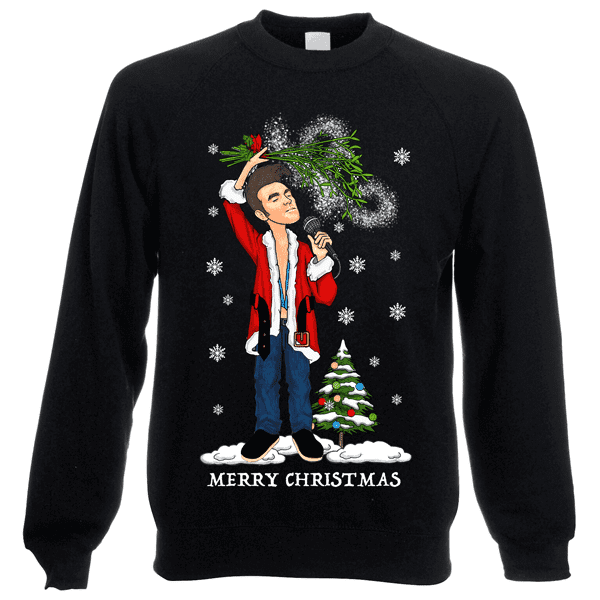 Morrissey-Christmas-Jumper-In-Black