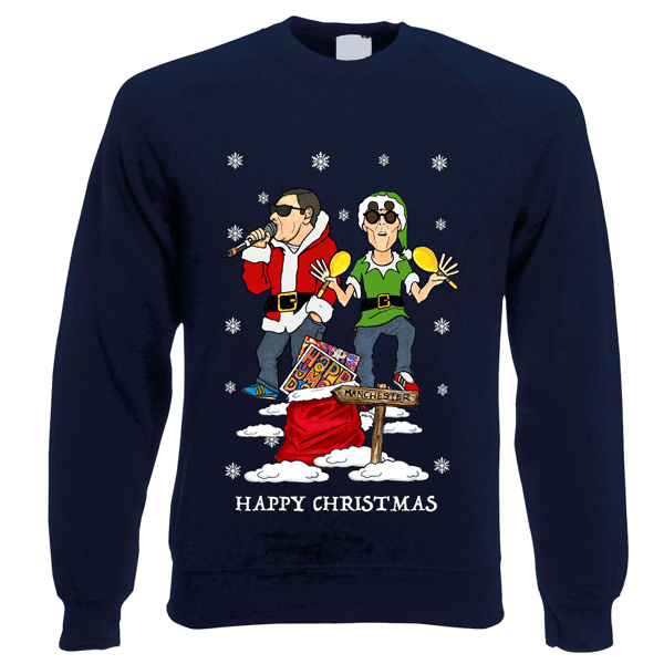 Happy-Mondays-Christmas-Jumper-in-Navy