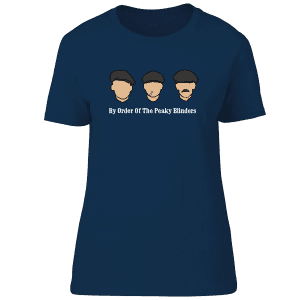 """Peaky Blinders T-Shirt featuring hand drawn illustrations of John,Thomas and Arthur Shelby. It also features the quote """"By Order Of The Peaky Blinders"""""""