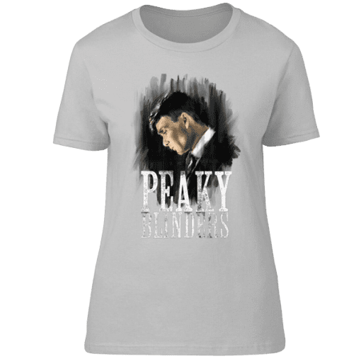 Peaky Blinders Thomas Shelby T-Shirt featuring hand drawn artwork by Mark Reynolds. These T-Shirts are available in a wide range of colours and sizes.
