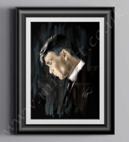 Peaky Blinders Thomas Shelby Oil Painting, prints can be purchased in the following sizes: A1, A2 & A3
