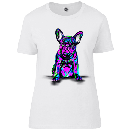 French Bull Dog Psychedelic T-Shirt