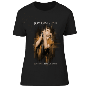 This Joy Division Love Will Tear Us Apart T-shirt has been drawn by Mark Reynolds.