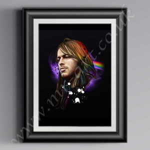 This exclusive David Gilmour Pink Floyd print has originally been drawn by artist Mark Reynolds.  Available in a range of different sizes.