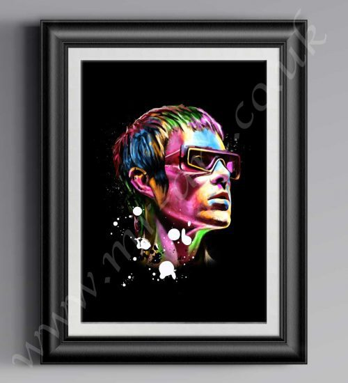 This exclusive Ian Brown Psychedelic print has originally been drawn by artist Mark Reynolds.  Available in a range of different sizes.