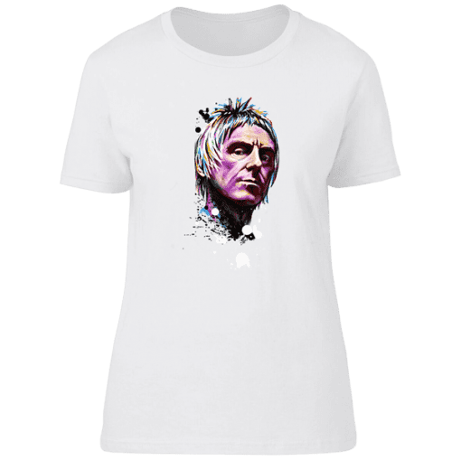 Paul Weller Psychedelic T-Shirt from original artwork by Mark Reynolds and is available in a wide range of colours and sizes and is available at Mr Art only