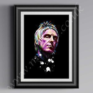 This exclusive Paul Weller Psychedelic printhas originally been drawn by artist Mark Reynolds. Available in a range of different sizes.