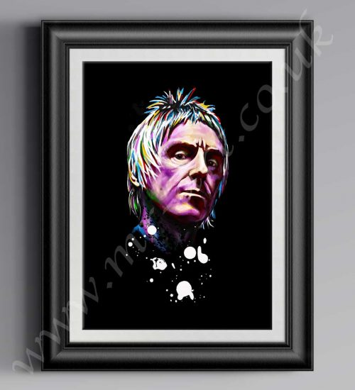 This exclusive Paul Weller Psychedelic print has originally been drawn by artist Mark Reynolds. Available in a range of different sizes.