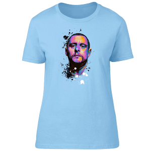 Shaun Ryder Psychedelic T-Shirt from an original drawing by Mark Reynolds. This T-Shirt is available in a wide range of colours and sizes.