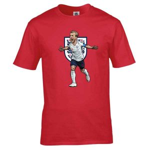 Bespoke Harry Kane T-Shirt, from original artwork by Mark Reynolds. Available in a range of colours and sizes.