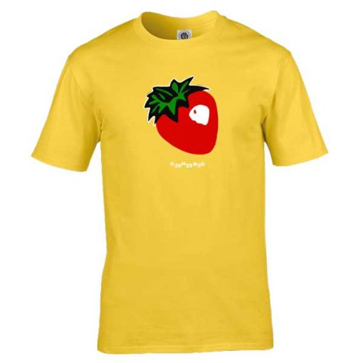 Strawberry Acid t-shirt from original artwork by Mark Reynolds. This design has been inspired by the original LSD Acid Trip