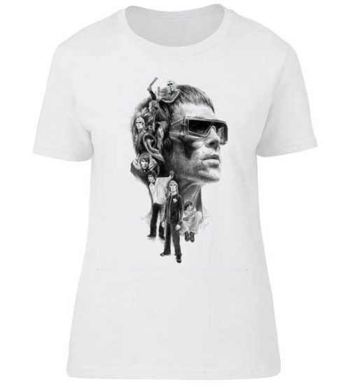 This Ian Brown montage T-Shirt has been drawn by Mark Reynolds. It features a montage of classic Ian Brown images. Available in a range of sizes.