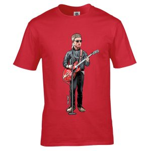 Noel Gallagher The Chief T-Shirt featuring an original drawing by Mark Reynolds. Available in a range of colours and sizes