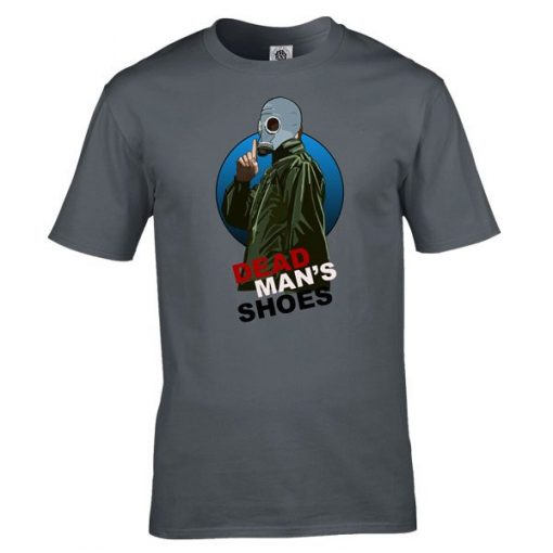 Dead Mans Shoes T-Shirt has been drawn by Mark Reynolds. It is available in a range of colours ans sizes and is exclusive to MR ART.