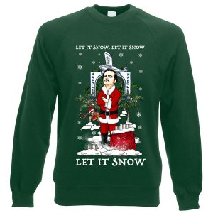 ThisLet It Snow Narcos/Pablo Escobar Christmas Jumperhas been designed by Mark Reynolds. It features Pablo Escobar and is available in a range of colours