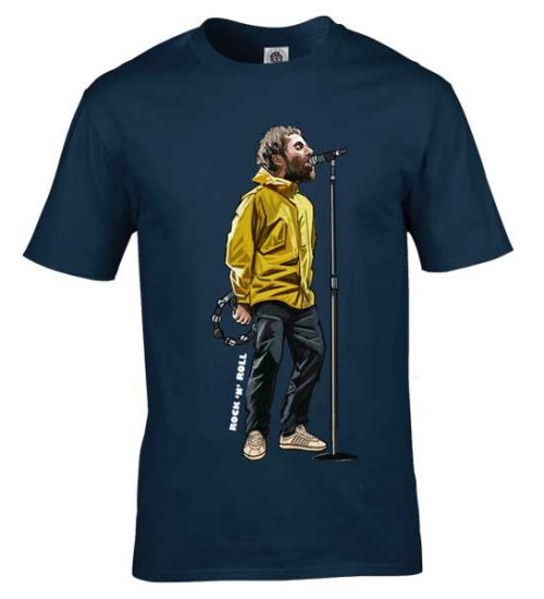 This Liam Gallagher special cartoon T-Shirt has been drawn by Mark Reynolds. It features Liam Gallagher wearing Adidas Spezial trainers. It is available in a wide range of colours and sizes.