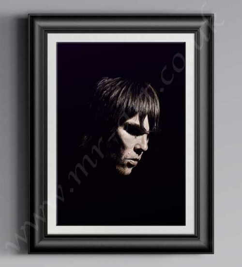 This exclusive Ian Brown Shadow Of A Saint print has originally been drawn by artist Mark Reynolds. It is available in size A3, A2 and A1.This exclusive Ian Brown Shadow Of A Saint print has originally been drawn by artist Mark Reynolds. It is available in size A3, A2 and A1.