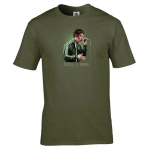 Riochard Ashcroft- Natural Rebel T-Shirt has been drawn by Mark Reynolds. It is available in a range of colours and sizes and is exclusive to MR ART.